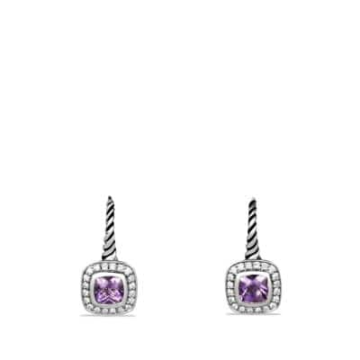 Albion Drop Earrings with Amethyst and Diamonds