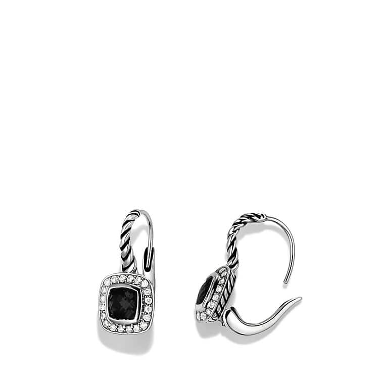 Albion Drop Earrings with Black Onyx and Diamonds