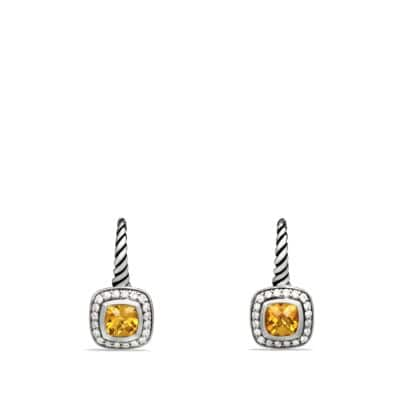 Albion Drop Earrings with Citrine and Diamonds