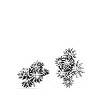 Starburst Cluster Earrings with Diamonds thumbnail