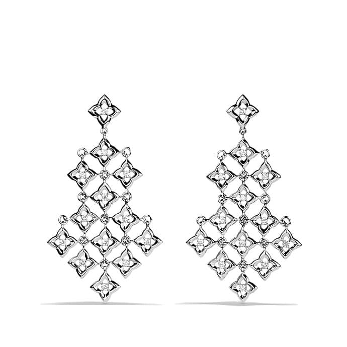 Quatrefoil Chandelier Earrings with Diamonds