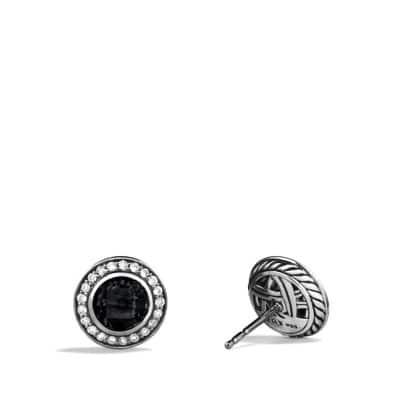 Cerise Petite Earrings with Black Onyx and Diamonds