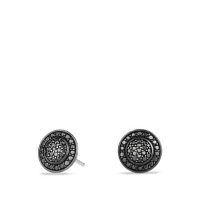 Cerise Petite Earrings with Black Diamonds