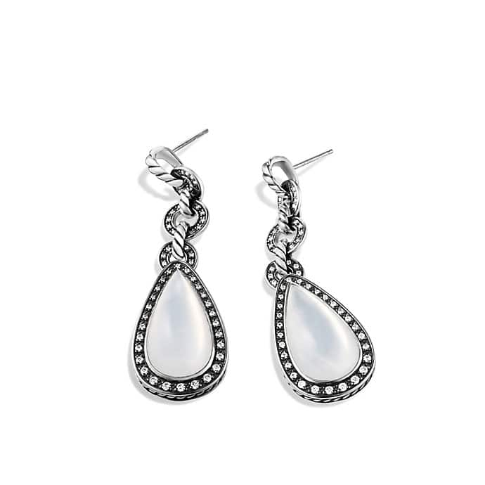 Anjou Drop Earrings with Diamonds