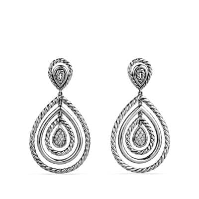 Mobile Cable Drop Earrings with Diamonds