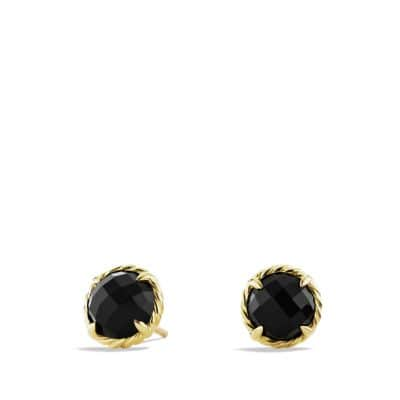 Earrings with Black Onyx in 18K Gold