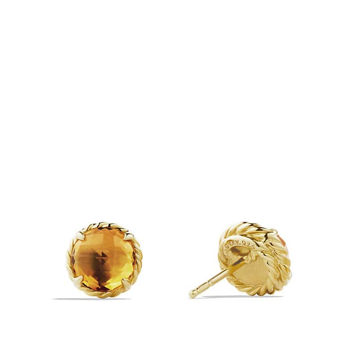 Earrings with Citrine in 18K Gold