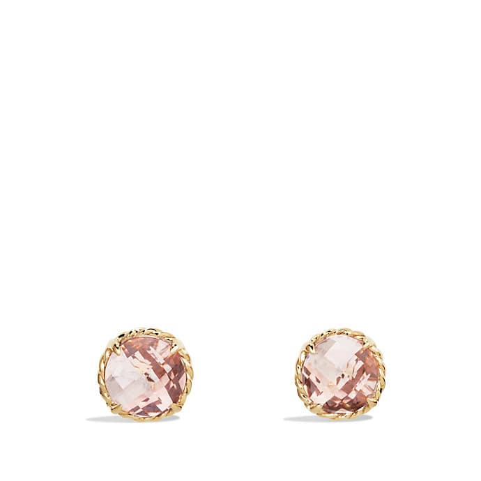 Châtelaine Earrings With Morganite In 18k Gold