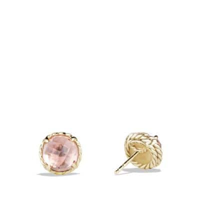Châtelaine® Earrings with Morganite in 18K Gold
