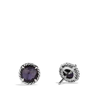 Châtelaine® Earrings with Black Orchid