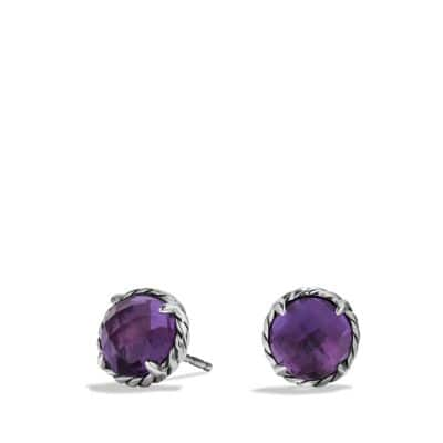 Châtelaine Earrings with Amethyst
