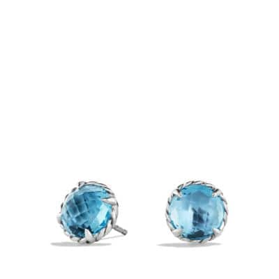Earrings with Blue Topaz