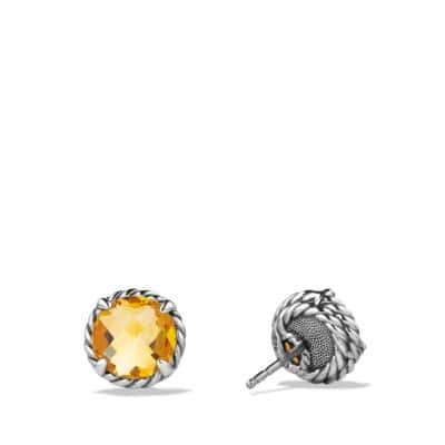 Châtelaine Earrings with Citrine