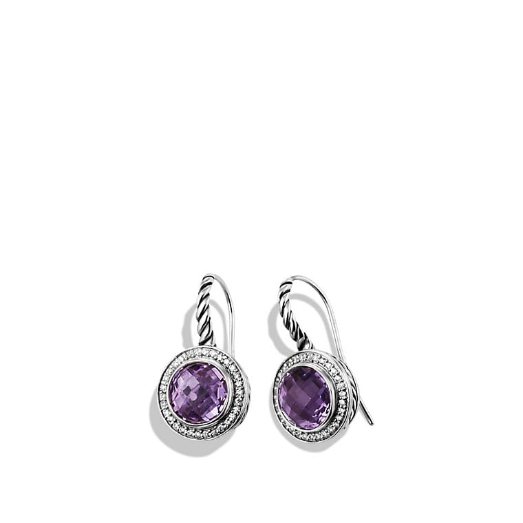 Color Classics Drop Earrings with Amethyst and Diamonds