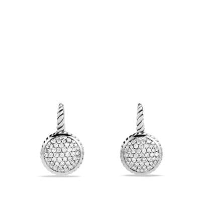 Cable Drop Earrings with Diamonds