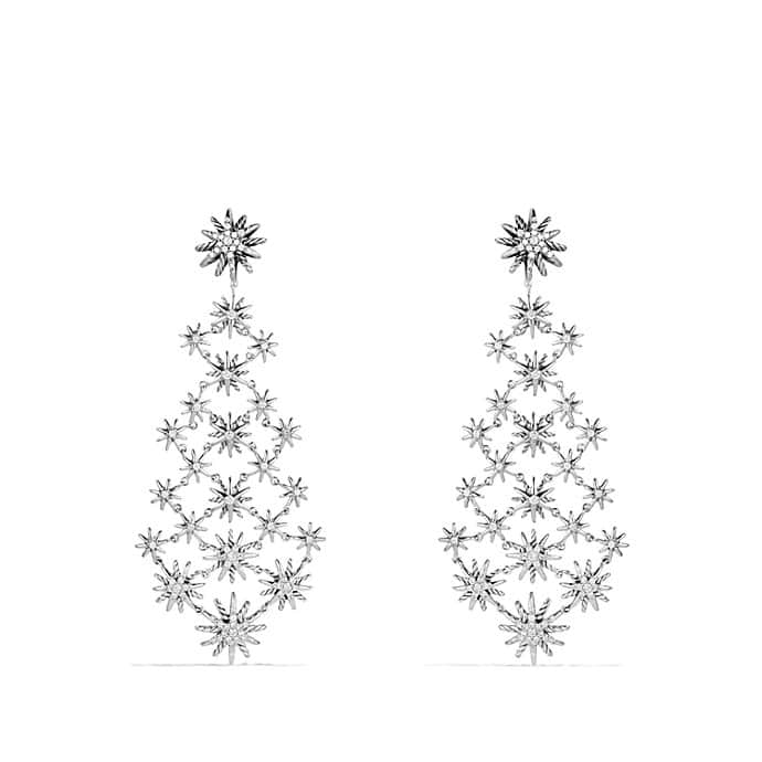 Starburst Chandelier Earrings with Diamonds