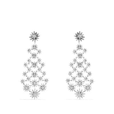 Starburst Chandelier Earrings with Diamonds thumbnail