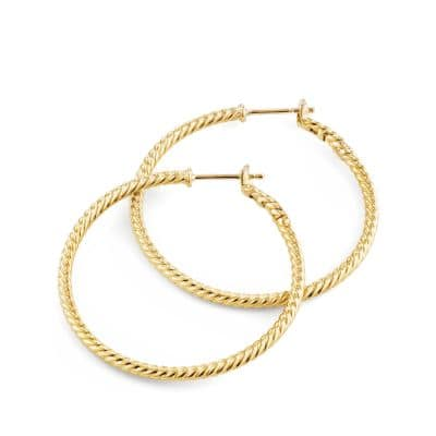 Cable Classics® Hoop Earrings in 18K Gold