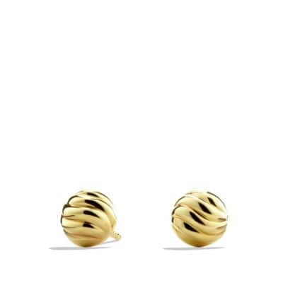 Sculpted Cable Stud Earring in 18K Gold