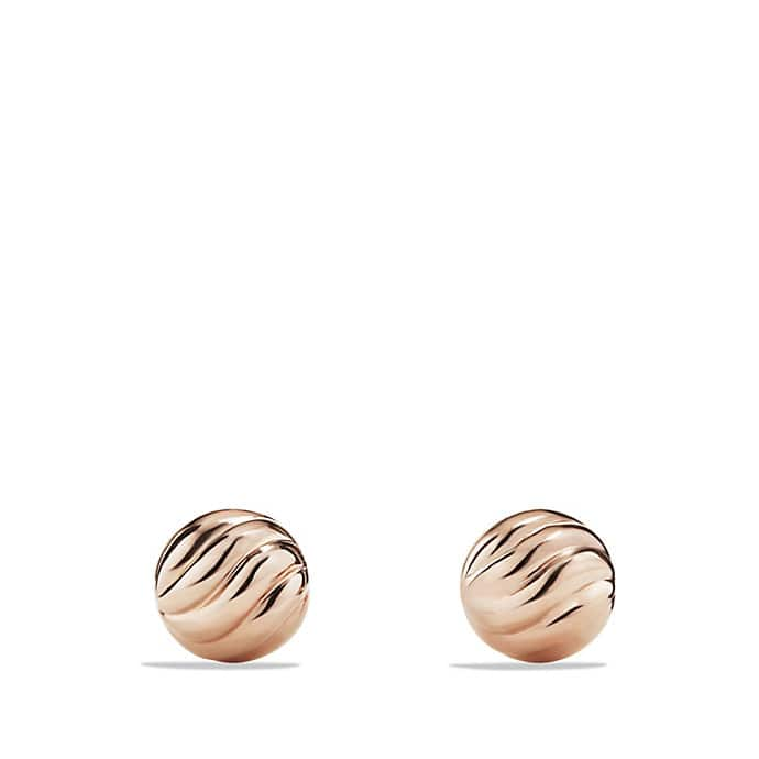 Sculpted Cable Stud Earring in 18K Rose Gold