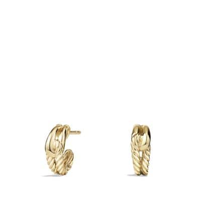 Labyrinth Earrings in 18K Gold