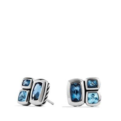 Confetti Earrings with Blue Topaz and Hampton Blue Topaz