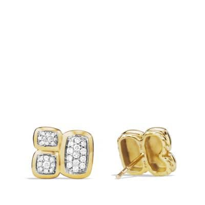 Confetti Earrings with Diamonds in 18K Gold