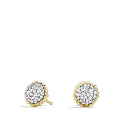 Chatelaine Earrings with Diamonds in Gold