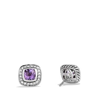 Petite Albion® Earrings with Amethyst and Diamonds