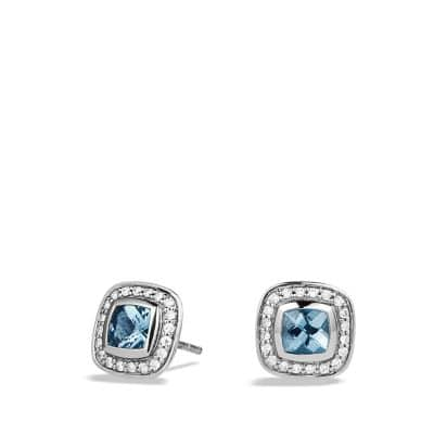Petite Albion® Earrings with Blue Topaz and Diamonds