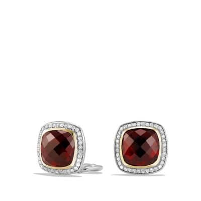 Albion Earrings with Garnet, Diamonds and 18K Gold