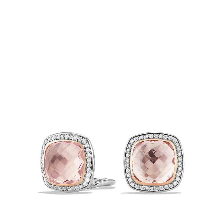 Albion Earrings With Morganite And 18k Rose Gold