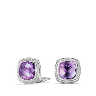 Albion® Earrings with Amethyst and Diamonds, 11mm