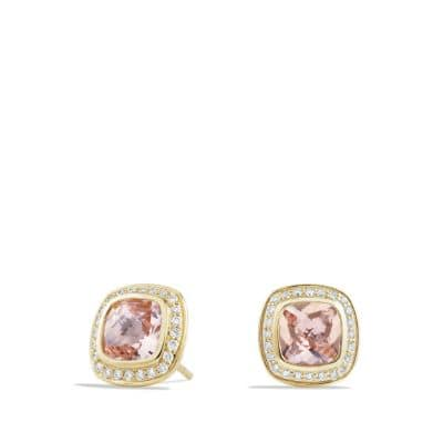 Albion Earrings with Morganite and Diamonds in 18K Gold