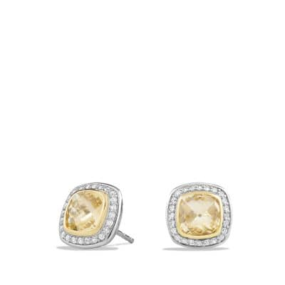 Albion Earrings with Champagne Citrine, Diamonds and 18K Gold