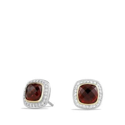 Albion® Earrings with Garnet, Diamonds and 18K Gold