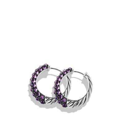 Osetra Hoop Earrings with Amethyst