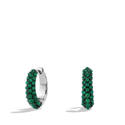 Osetra Hoop Earrings with Green Onyx