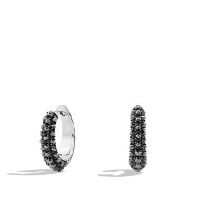 Osetra Hoop Earrings with Hematine