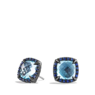 Earrings with Blue Sappires