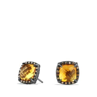 Châtelaine Stud Earrings with Citrine and Cognac Diamonds