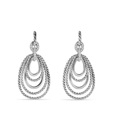 Mobile Drop Earrings with Diamonds