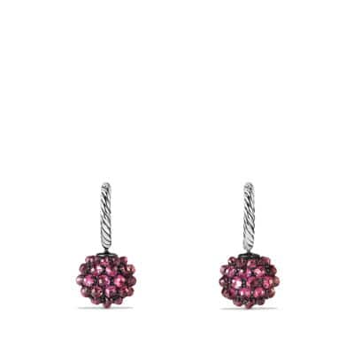 Osetra Drop Earrings with Rhodalite Garnet