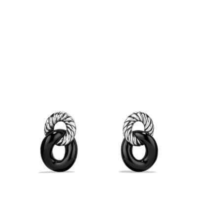 Belmont® Curb Link Drop Earrings with Black Onyx