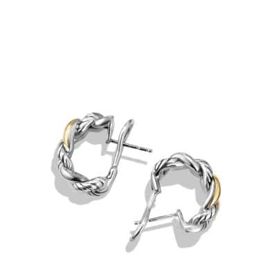 Belmont Curb Link  Earrings with 18K Gold