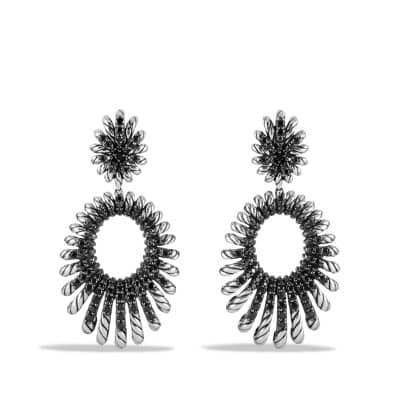 Double Drop Earrings with Black Spinel