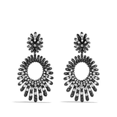 Double Drop Earrings with Diamonds