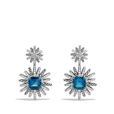 Starburst Earrings with Hampton Blue Topaz and Diamonds