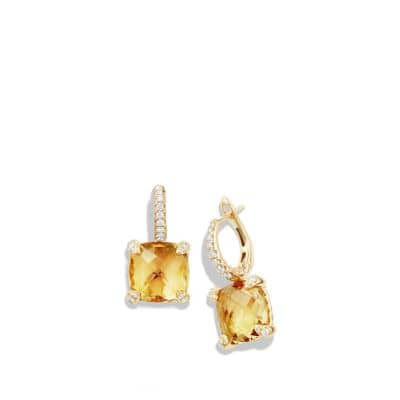 Chatelaine Drop Earrings with Citrine and Diamonds in 18K Gold