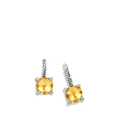 Châtelaine® Drop Earrings with Citrine and Diamonds